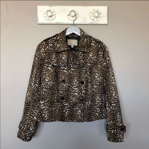 Banana Republic | Animal Print Button Down Jacket